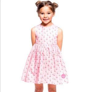 Smiling Button Toddler Pink Pinny Ballerina Dress